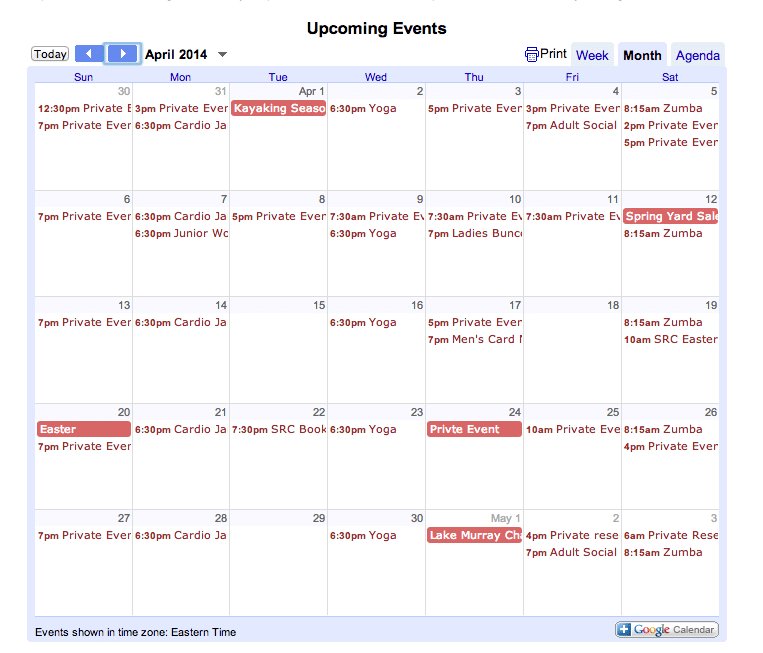 March April Activities at Saluda River Club