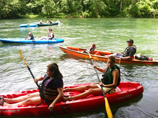 Kayakers living at Saluda River Club