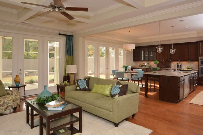 Family room and kitchen in Lexington, SC home