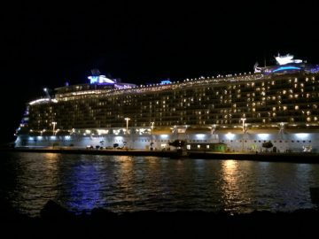 2014 cruise ship by night