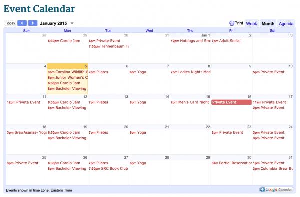 January activities at Saluda River Club