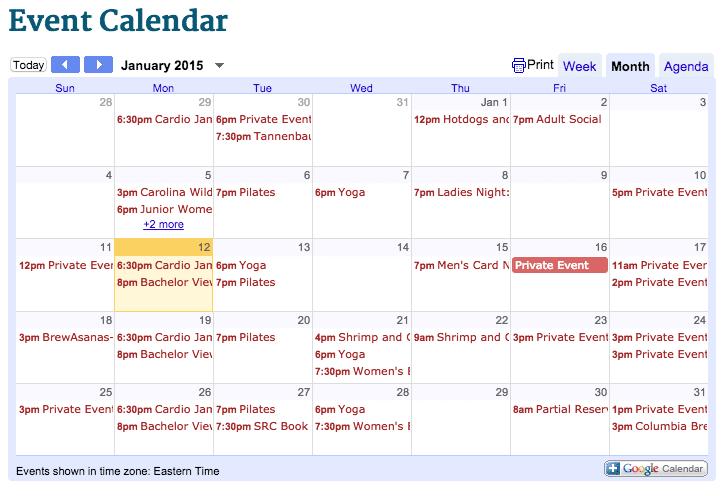 Events at Saluda River Club