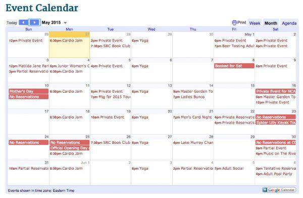 May Activities at Saluda River Club