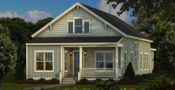Single level cottage