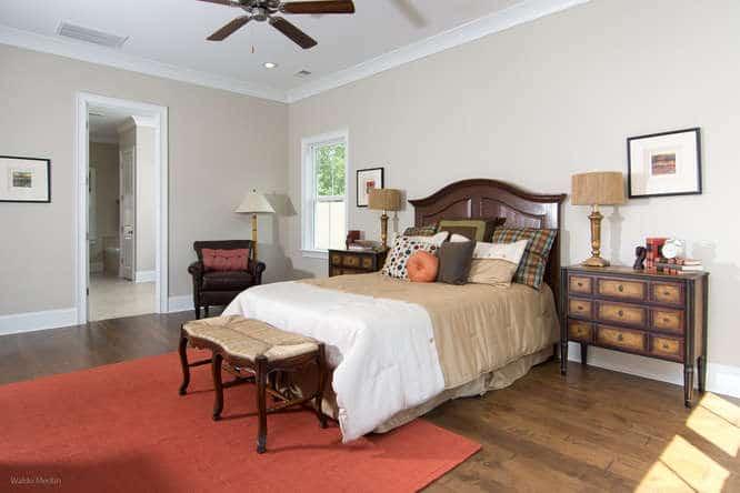 Master bedroom, furnished
