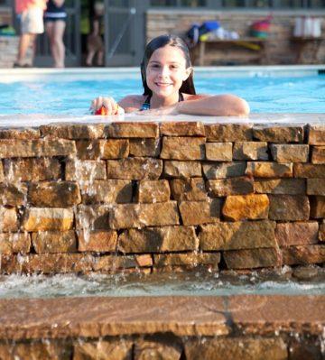 SRC girl in pool