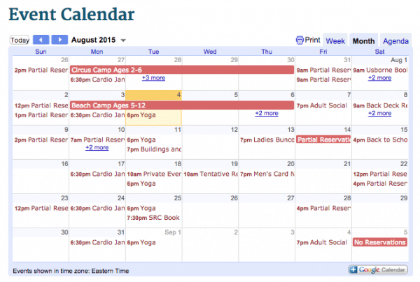 August Activities at Saluda River Club