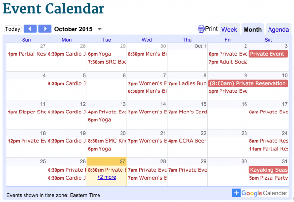 February 2016 Activities at Saluda River Club