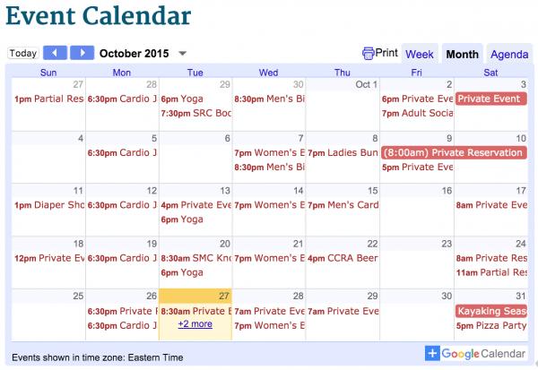 November activities at Saluda River Club