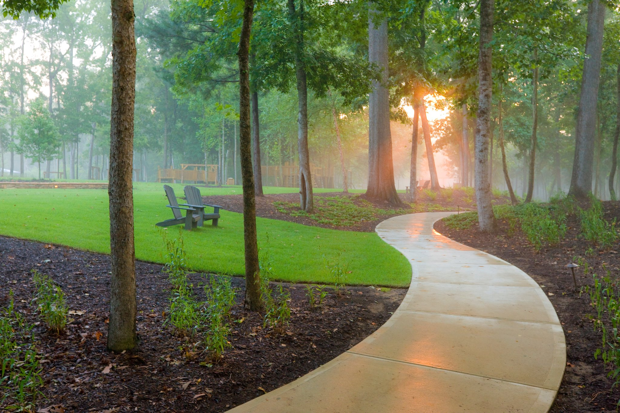 walking trails at Saluda River Club